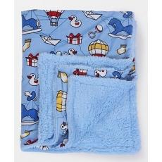 Mee Mee Blanket Duck Print - Light Blue