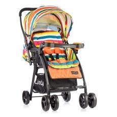 LuvLap Joy Baby Stroller - Printed Orange