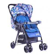 LuvLap Joy Baby Stroller - Printed Blue