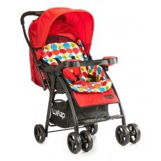 LuvLap Joy Baby Stroller - Printed Red
