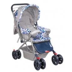 Mee Mee Stroller Cum Pram - Dark Blue & Grey