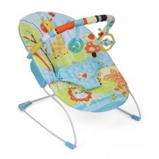 Mastela Soothing Vibrations Baby Bouncer Giraffe Print - Green And Aqua