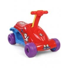 LuvLap Baby Joy Ride Manual Push Ride On Cum Scooter - Red