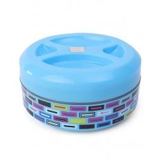 SKI Plastoware Insulated Round Lunch Box - Blue