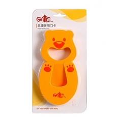 Rikang Multipurpose Baby Toddler's Finger Pinch Guard Door Window closet Stopper - (Yellow)