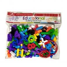 Ruchiez Educational Alphabet Building Block Toy For Kids - Multicolor