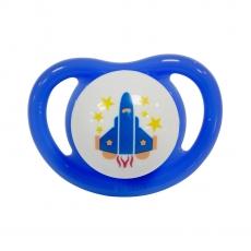 Pigeon Minilight Medium Pacifier Rocket Print - Blue