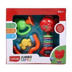 Luvlap Rattle Set , Pack of 3 - Multicolor
