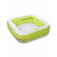 Intex Square Swim Pool - Green And White