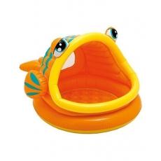Intex Lazy Fish Inflatable Pool - Orange