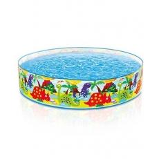 Intex Inflatable Dino Snapset Pool Multicolor - Depth 4 Feet