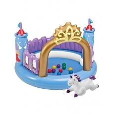 Intex Magical Castle Jumpoline Toy - Blue Purple