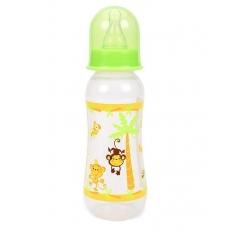 Mee Mee Polypropylene Plastic Premium Feeding Bottle Green & Yellow - 250 ml