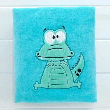 Cucumber Towel Wrapper Dino Print - Blue