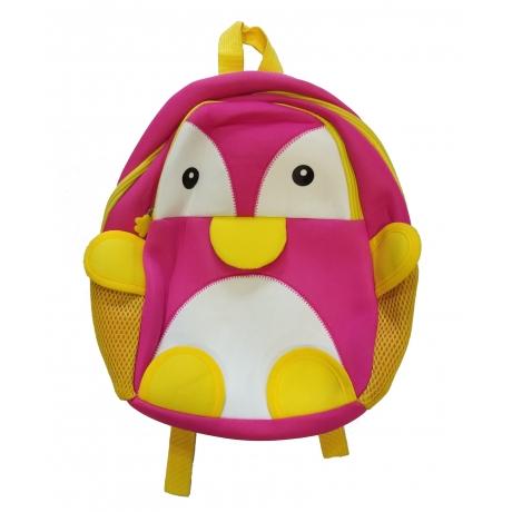 School Bag Animal Design Pink & Yellow 2 - 4 Year