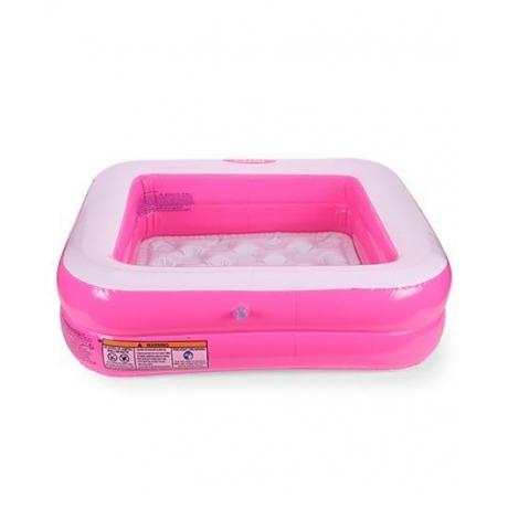 Intex Square Swim Pool - Pink And White